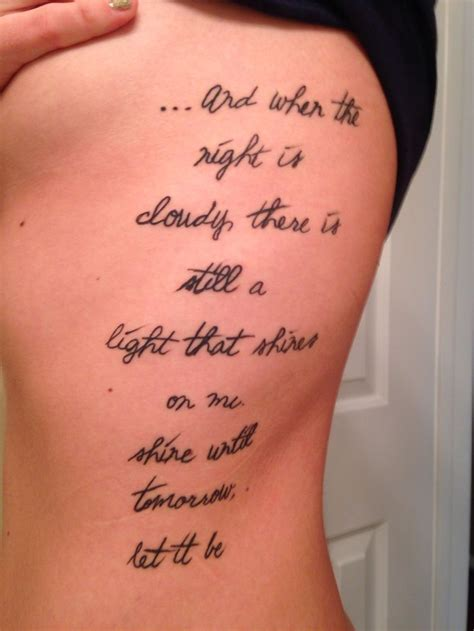 tattoo lyrics on ribs pin by annette mcmullen on ink addiction pinterest