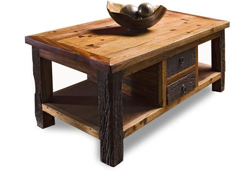 Rustic Wood Coffee Tables reclaimed wood lodge cabin rustic coffee table kathy kuo