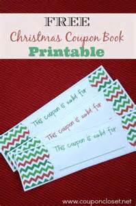 free christmas coupon book printable homemade gift idea coupon closet