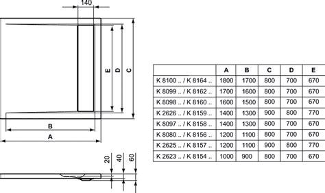 piatto doccia 160 x 80 dettagli prodotto k8098 piatto doccia in acrilico