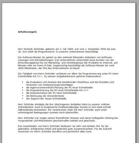 Leistungsbeurteilung Praktikum Vorlage arbeitszeugnis muster freeware de