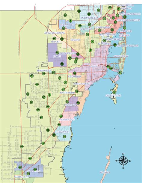 Miami Dade Map by Cities Served Miami Dade County
