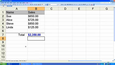 Create Spreadsheet In Drive by How To Sum On Excel Spreadsheet How To Create A Grand Total Worksheet In Microsoft Excel 2003