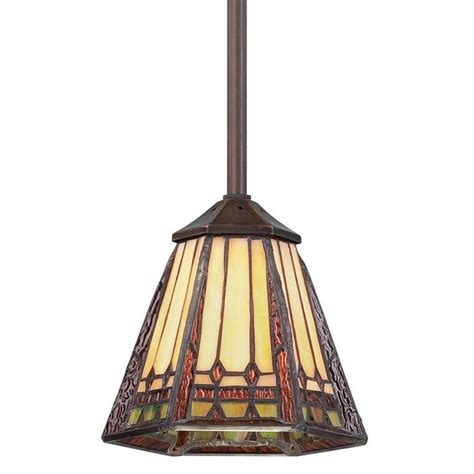 stained glass kitchen lighting view the quoizel tfan1506 arden 1 light mini pendant with