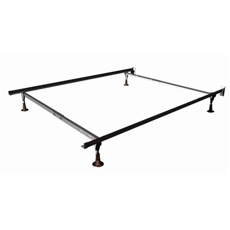 twin full size duralock metal bed frame with glides