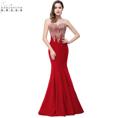 robe soiree dentelle 2015 robe de soiree longue sexy backless red mermaid lace
