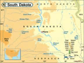 us map south dakota south dakota land map