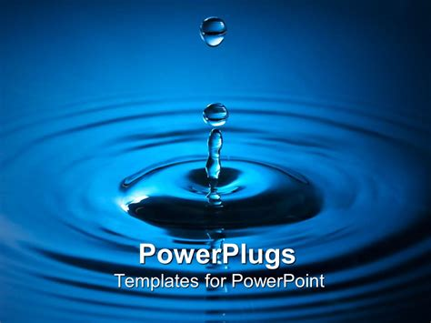 templates powerpoint free download water powerpoint template a drop of blue colord water making a