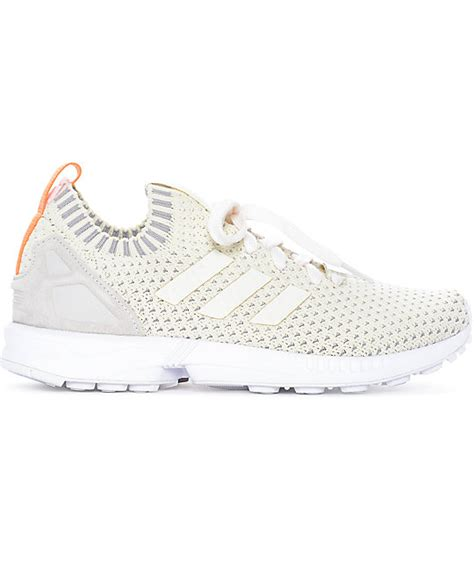 Adidas Zx Flux Prime Knit Black White adidas zx flux white primeknit shoes zumiez