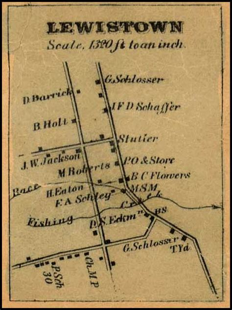 Md Search Gov Detail Of Lewistown From Isaac Bond Map Of Frederick