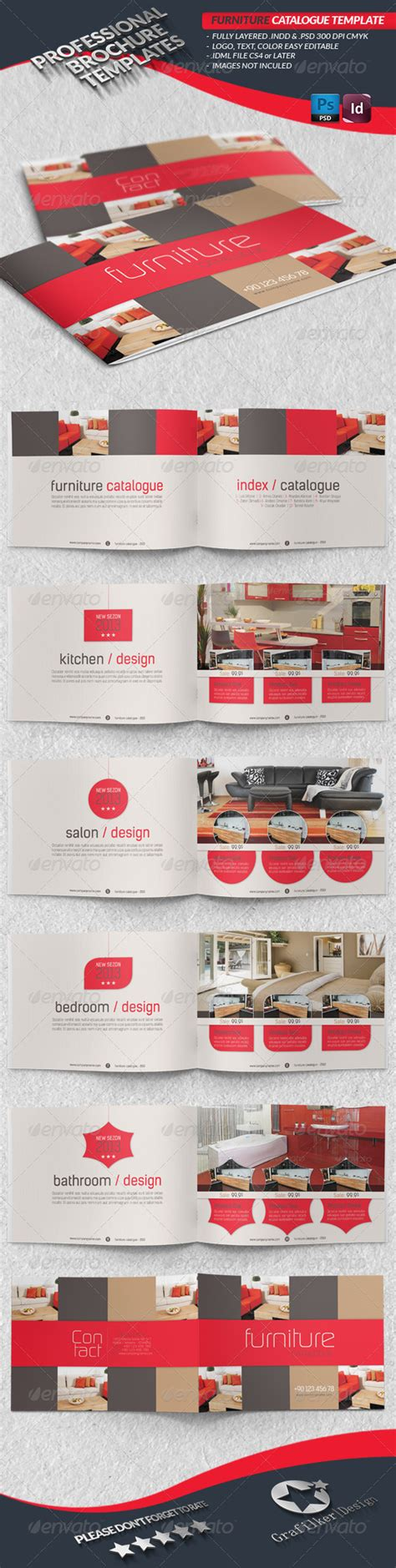catalog layout pinterest furniture catalogue template graphicriver