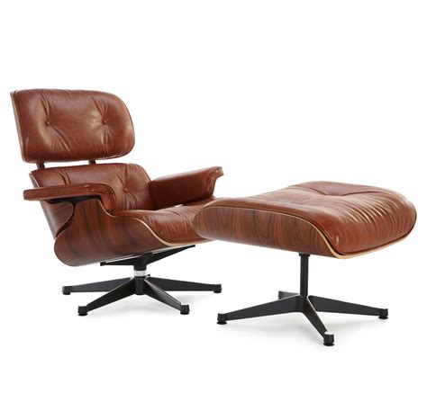 brown eames lounge chair classic lounge chair ottoman antiqued brown style 1