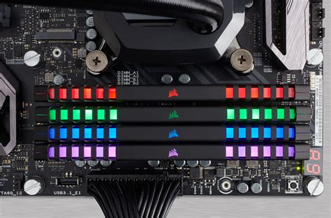 vengeance ram corsair vengeance rgb ddr4 memory modules with leds now on