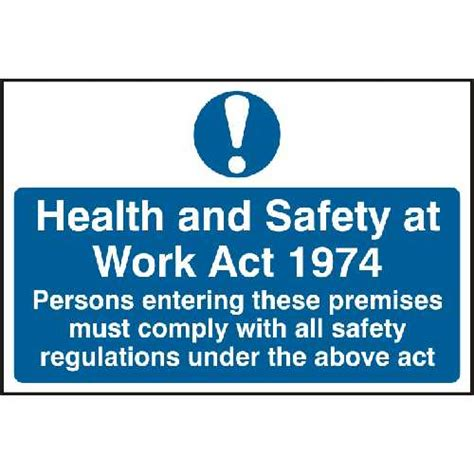 health and safety at work act 1974 section 8 health and safety at work act 1974 self adhesive pvc sign