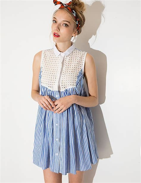 Dress Of The Day Brush Ribbed Babydoll by Dress Babydoll Dress Pixiemarket Striped Dress Korean
