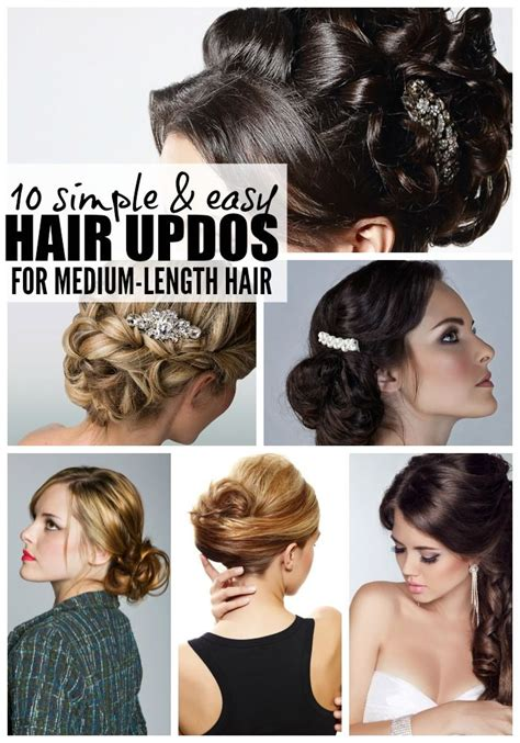 casual updo hairstyles tutorials 10 easy glamorous updos for medium length hair
