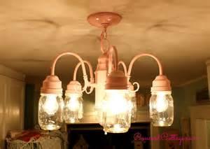 Shabby Chic Kitchen Lighting Hometalk Shabby Chic Jar Chandelier
