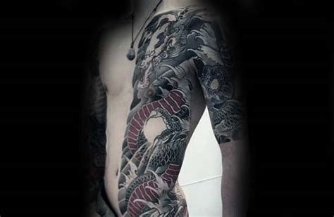 dragon tattoo rib cage 90 japanese dragon tattoo designs for men manly ink ideas