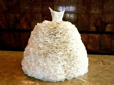 How To Make Toilet Paper Dress - you obviously won t wear a toilet paper wedding dress