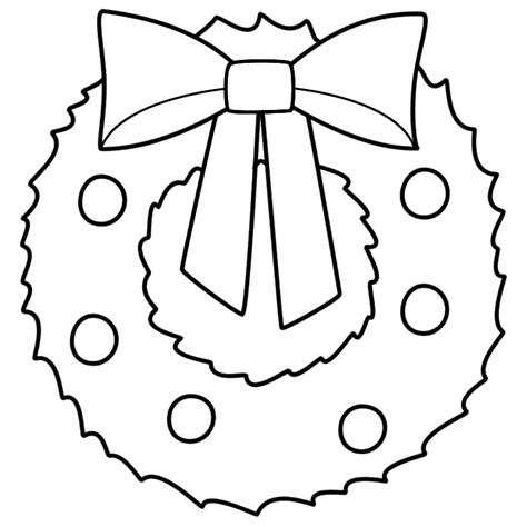 Christmas Wreath Coloring Page Wreaths Pinterest Wreath Coloring Pages