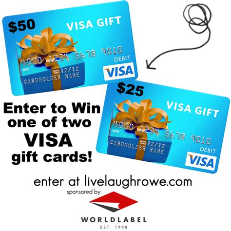 gift card giveaway template worldlabel visa gift card giveaway live laugh rowe