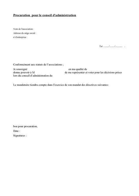 Exemple De Lettre De Procuration Pour Retrait De Document Exemple De Procuration Gratuite