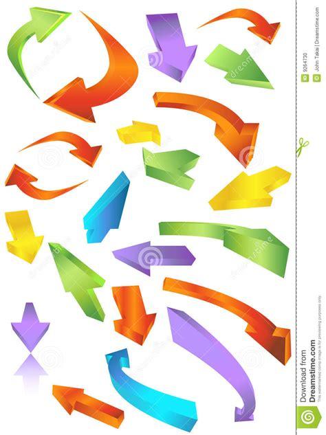 frecce clipart icone della freccia direzionale illustrazione vettoriale