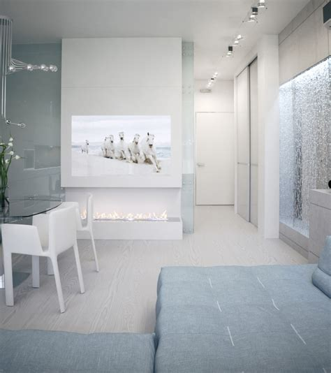 alexander lysak visualization open plan dining entertainment water feature wall interior design ideas