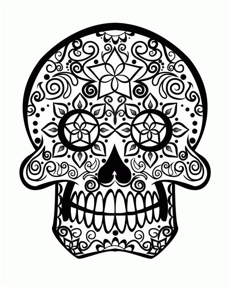 sugar skull coloring pages pdf free sugar skull coloring page az coloring pages