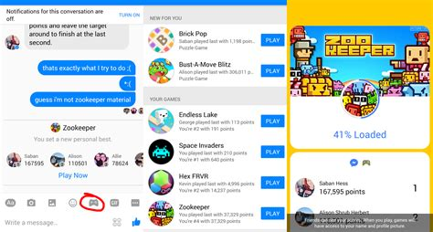 fb games how to play games in facebook messenger video