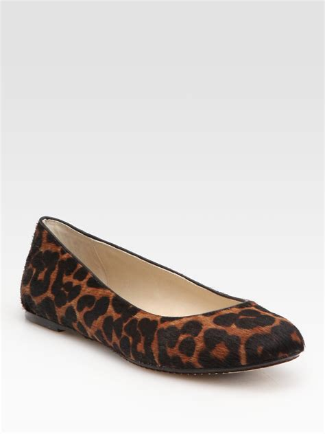 leopard flats shoes kors by michael kors olympia leopard print calf hair