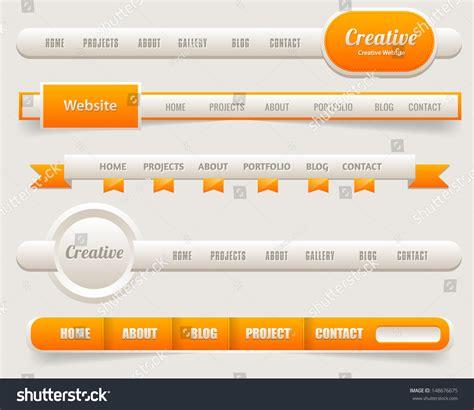 web design header menu vector header web menu design stock vector 148676675