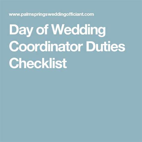 Wedding Checklist For Coordinator by 17 Best Ideas About Wedding Coordinator On