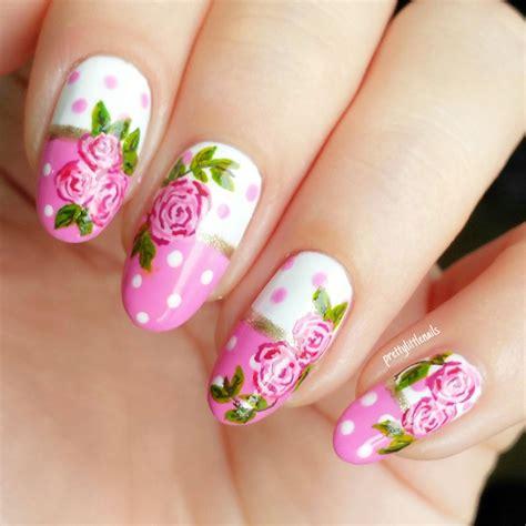 easy nail art roses polkadots jolene tay