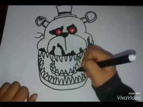 imagenes de fnaf para dibujar faciles como dibujar a fredbear parte 1 2 fnaf 4 youtube