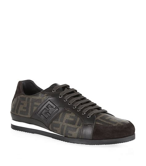 fendi sneakers fendi new softy logo sneaker in gray for lyst