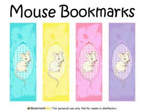 printable bookmarks pdf free printable mouse bookmarks download the pdf template