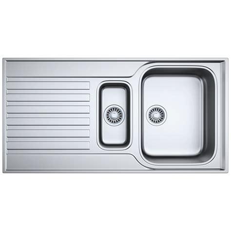 1 5 Kitchen Sink Franke Ascona Asx 651 Stainless Steel 1 5 Bowl Inset Sink 101 0277 124