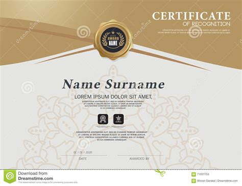 custom certification card size template certificate frame design template layout template in a4