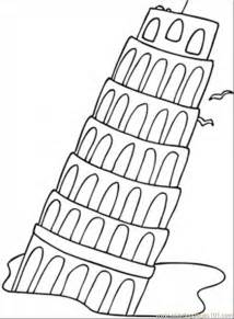 italy coloring pages falling tower coloring page free printable coloring pages