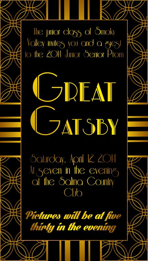 Great Gatsby Party Invitations Awesome Customize Great Gatsby Invitation Templates Line Canva Great Templates