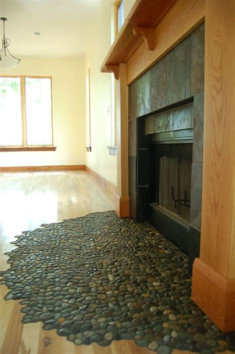 glazed bali pebble tile jade pebble floor and stove