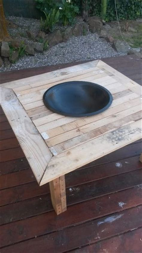 pallet pit outdoor pit on a table 8 steps with pictures