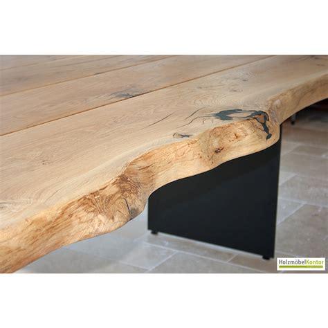 Tisch Mit Baumkante tisch eiche stammbohlen 7cm massiv holzmoebelkontor de