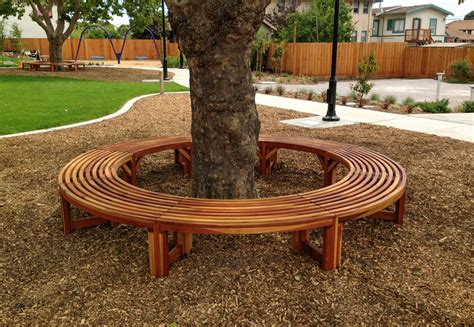 half tree bench miramar half circle tree bench foreverredwood