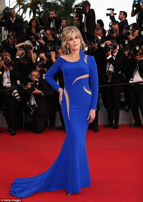 the gorgeous stars at the cannes film festival popsugar celebrity jane fonda 77 wows the crowd in blue versace at cannes