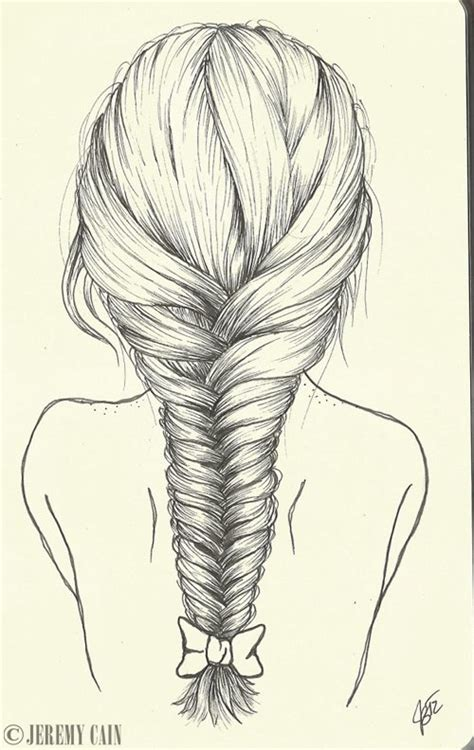 Drawing Of A With Braids by Fishtail Braid By Jeremycain On Deviantart