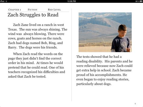 reading comprehension test narrative ipod touch and iphone template ibook ranching and