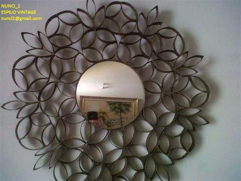 decorar un espejo con papel como decorar un espejo con rollos de papel higienico