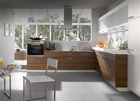 Design Of Kitchens Kitchen Designs From Warendorf Walnut Compact Kitchen Design